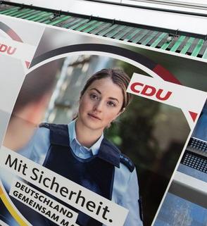CDU faked Wahlplakate