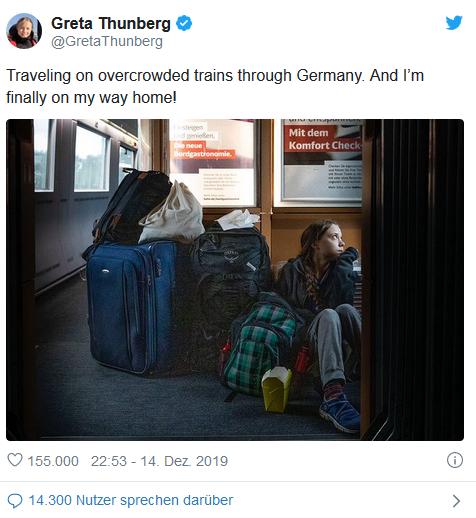 Greta Thunbergs ICE-Fahrt durch Deutschland