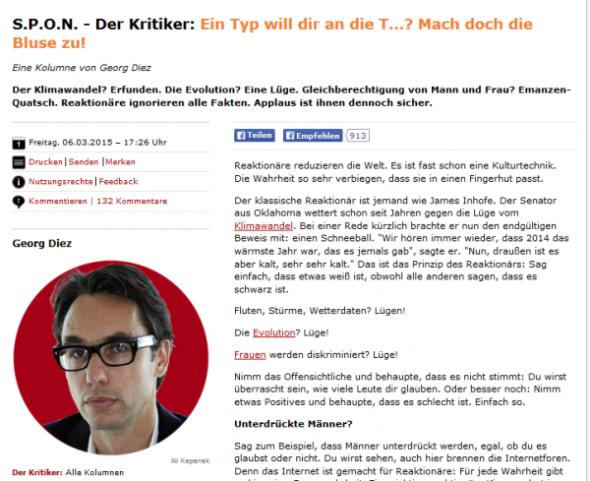 """Herr Diez und die """"opportunistischen Arschlöcher"""""""